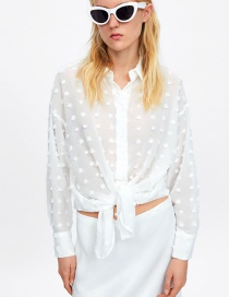 Fashion White Pompom Shirt