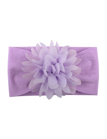 Fashion Purple Nylon Chiffon Flower Baby Hair Band