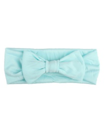 Fashion Light Blue Elastic Cloth Bow Children's Hair Band
