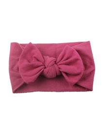 Fashion Rose Red Nylon Bow Children's Hair Band