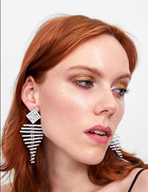 Fashion Multi-color Alloy Studded Geometric Earrings