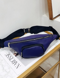Fashion Blue Shoulder Diagonal Chest Bag