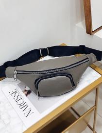 Fashion Gray Shoulder Diagonal Chest Bag