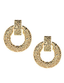 Fashion Gold Alloy Matte Round Earrings