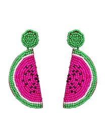 Fashion Red Rice Beads Fruit Earrings
