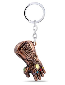 Fashion Bronze Infinite War Fighter Gloves Keychain