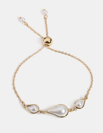 Fashion Gold Adjustable Pearl Bracelet