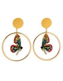 Fashion Yellow Colorful Butterfly Ear Clip
