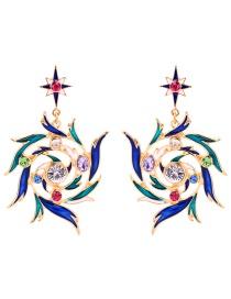 Fashion Color Drip Ear Studs