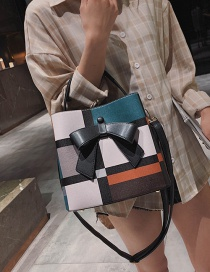 Fashion Black Plaid Bow Shoulder Bag