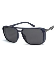 Fashion Blue Frame Black Gray Polarized Sunglasses