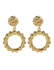 Fashion Gold Alloy Round Earrings