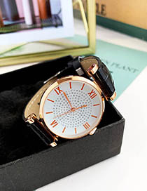 Fashion Black Alloy Pu Electronic Watch