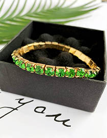 Fashion Green Alloy Diamond Bracelet