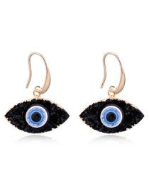 Fashion White Eye Imitation Natural Stone Earrings