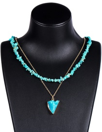 Fashion Song Shiqing Multi-layer Turquoise Necklace