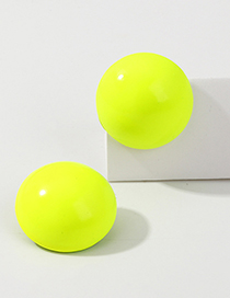 Fashion Fluorescent Green Round Earrings