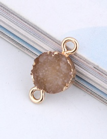 Fashion Beige Round Resin Double Hanging Earrings Bracelet