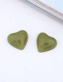 Fashion Green (one Sold) Love Resin Imitation Natural Stone Earrings