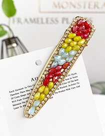 Fashion Color Alloy Resin Beads Duckbill Hairpin