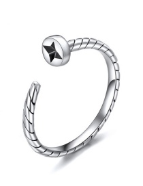 Fashion Silver Opening Adjustable 925 Silver Ring