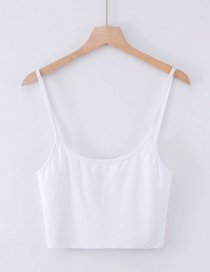 Fashion White Rolled Sling Vest