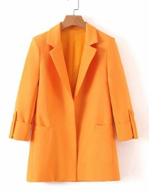 Fashion Orange Roll Show Seven-point Sleeve Suit