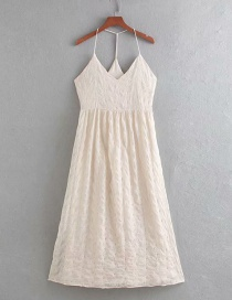 Fashion Color Embroidered Suspender Halter Dress