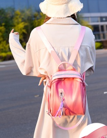Fashion Pink Soft Leather Backpack
