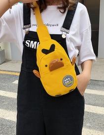 Fashion Yellow Canvas Cartoon Chest Bag