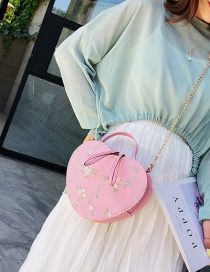 Fashion Pink Crossbody Chain Lace Embroidered Shoulder Tote