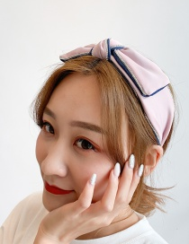 Fashion Pink Wide-brimmed Bow Tie Color Headband