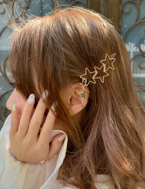 Fashion Gold Hollow Star Hairpin