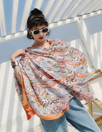 Fashion Cashew Flowers Cotton And Linen Printed Scarves