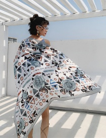 Fashion Dream Peony Cotton And Linen Printed Scarves