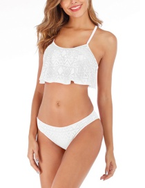 Fashion White Tube Top Mesh Bikini