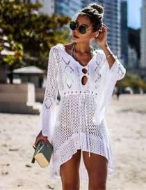 Fashion White Knitted Blouse