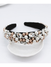 Fashion Champagne Jeweled Rice Beads Headband