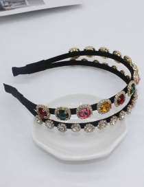 Fashion Color Two-layer Full Diamond Gem Headband