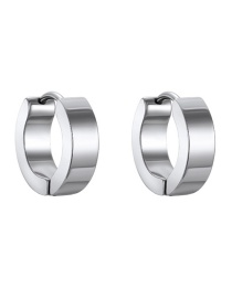 Fashion Round Stainless Steel Earring
