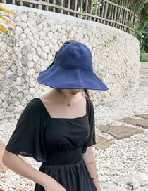 Fashion Navy Bow Top Hat