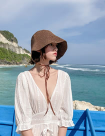 Fashion Caramel Colour Foldable Sun Hat