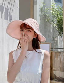 Fashion Pink Embroidered Letter Top Hat