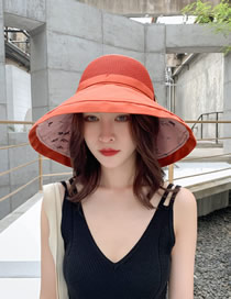 Fashion Double Orange Oversized Double-sided Fisherman Hat
