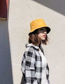 Fashion Yellow Black Double-sided Sun Hat