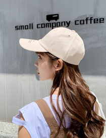 Fashion Beige Letter Embroidered Baseball Cap