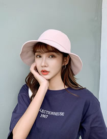 Fashion Pink Big Hat Sun Hat