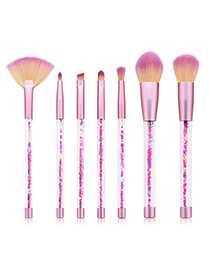Fashion Pearl Powder 7 Sticks Of Sand And Yellow Purple Hair Makeup Brush