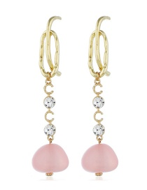 Fashion Pink Alloy Pearl Earrings