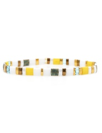 Fashion Yellow Woven Rice Beads Bracelet